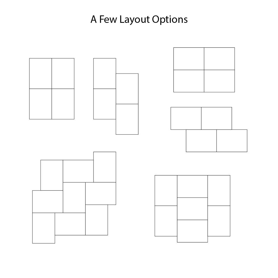 Domino Sheet wallpaper layout options