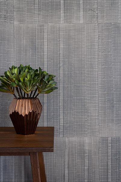 Traveller - Charcoal - Hand-painted sheet wallpaper