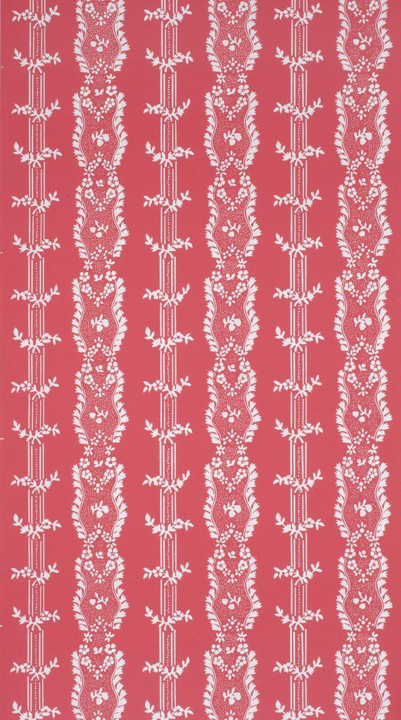 Boston Floral Stripe B - American, circa 1790-1800