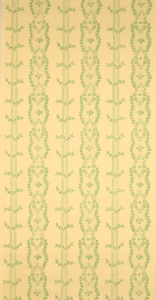 Boston Floral Stripe C - American, circa 1790-1800