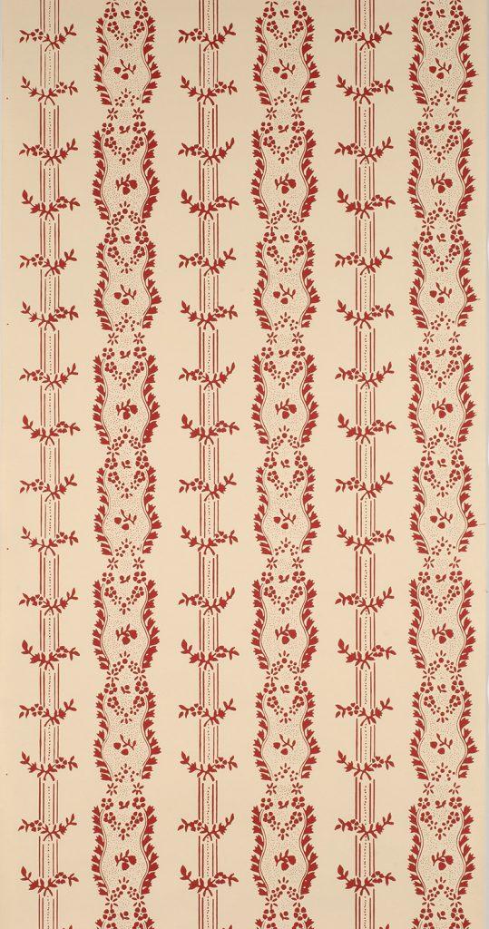 Boston Floral Stripe D - American, circa 1790-1800