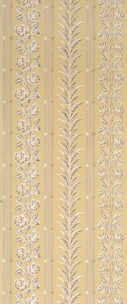 Plymouth Stripe & Vine D - American, circa 1795-1815