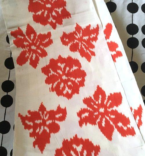 Orange Flower Adras Silk