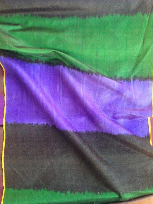 Green, Purple, Black Stripe