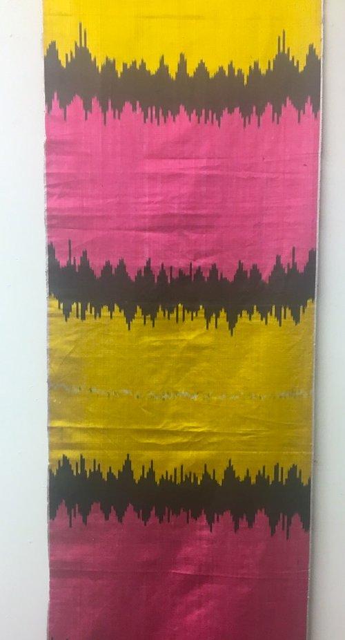 Stiletto Stripe Pink/Yellow
