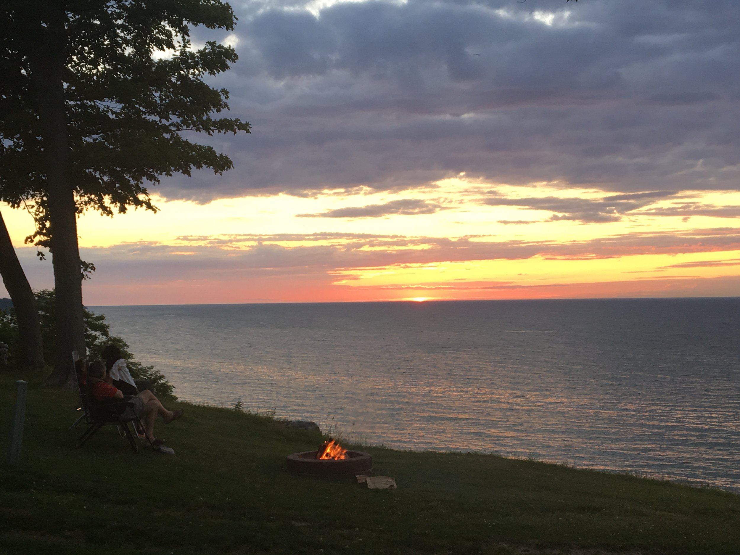 Photo taken from Sodus Point Campground, NY