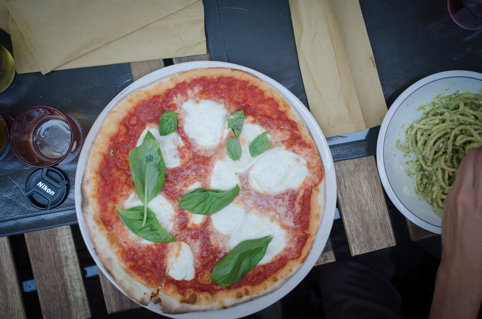 The most classic Roman dish, a Pizza Bufala. Made with fresh tomatoes, Bufala mozzarella, basil, and little else, classic Italian pizzas and pastas always make a satisfying meal.