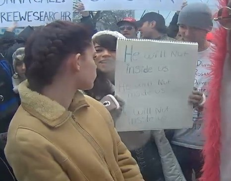 A Screenshot from the   He Will Not Divide Us  Livestream