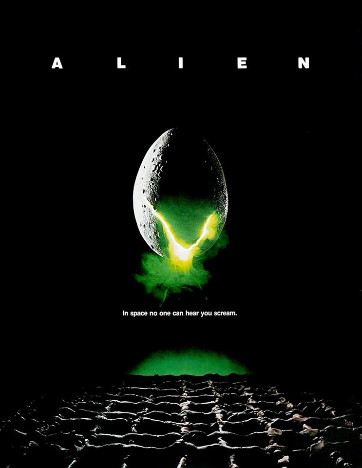 Official poster for the original Alien, which premiered on May 25, 1979