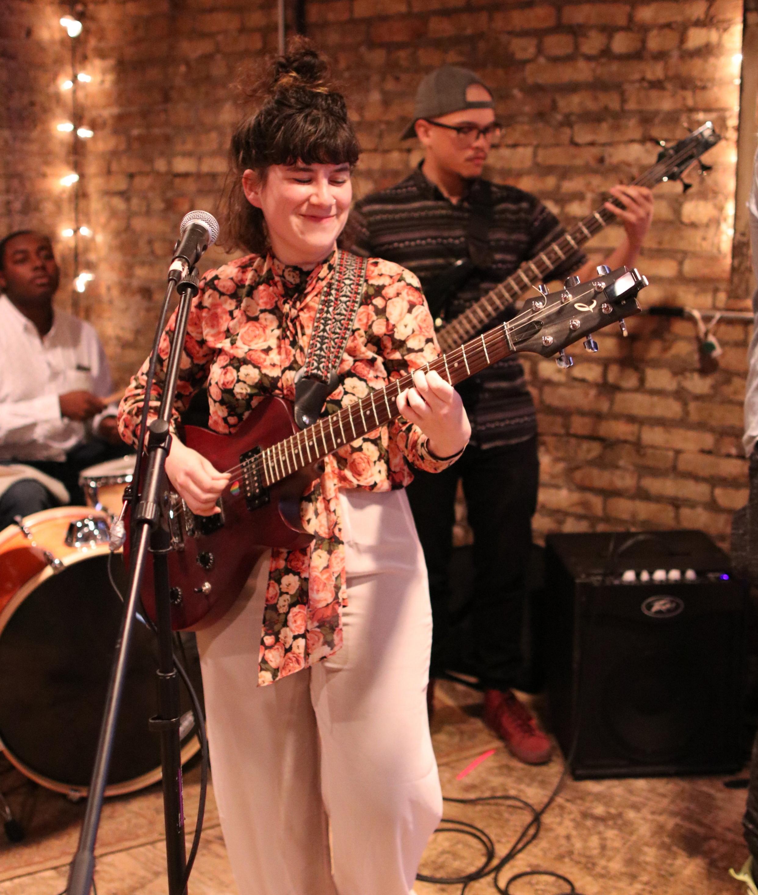 Jordanna performing at the Shredded One Year Celebration. Photo courtesy of Wendy Davis
