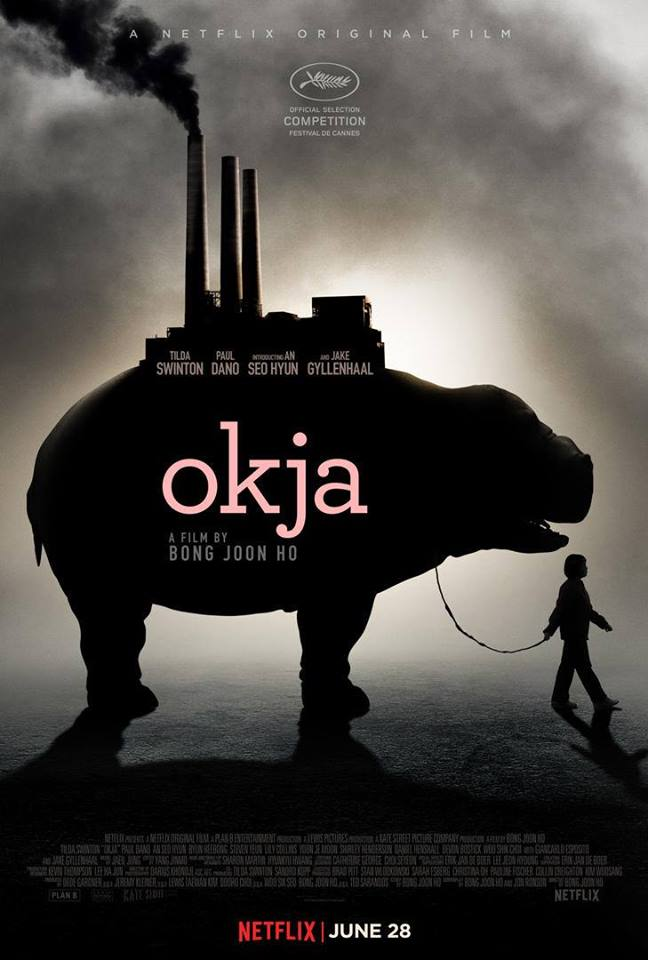 Official movie poster for Okja