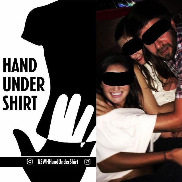 Combine as many friends and hands as possible for the #SWHHandUnderShirt challenge. #swhgame #seewhathappens #seewhathappensgame #seewhathappensnext #wanderinghands #handundershirt #nyc #newyork #nycbars #barchallenge #barchallenges