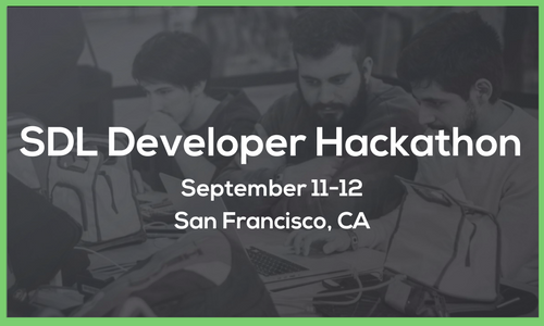 The next great ideas for connected car content will come from our community of SDL developers. If this means you…come show off your innovation at the first ever all-SDL hackathon! The most innovative connected car apps will take home thousands in cash and other great prizes.