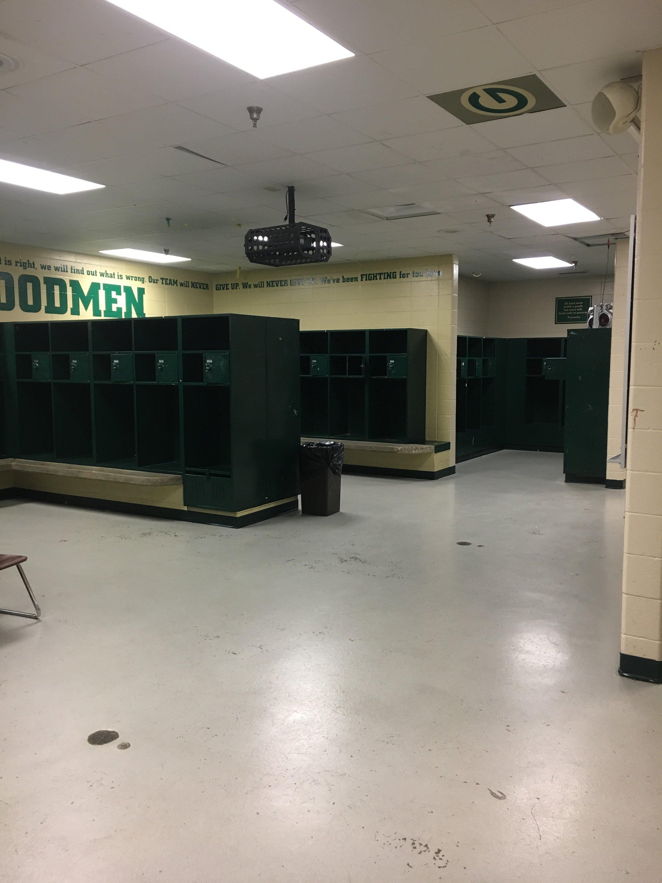 Before Epoxy Coating Installed on GHS Football Locker Room Floors