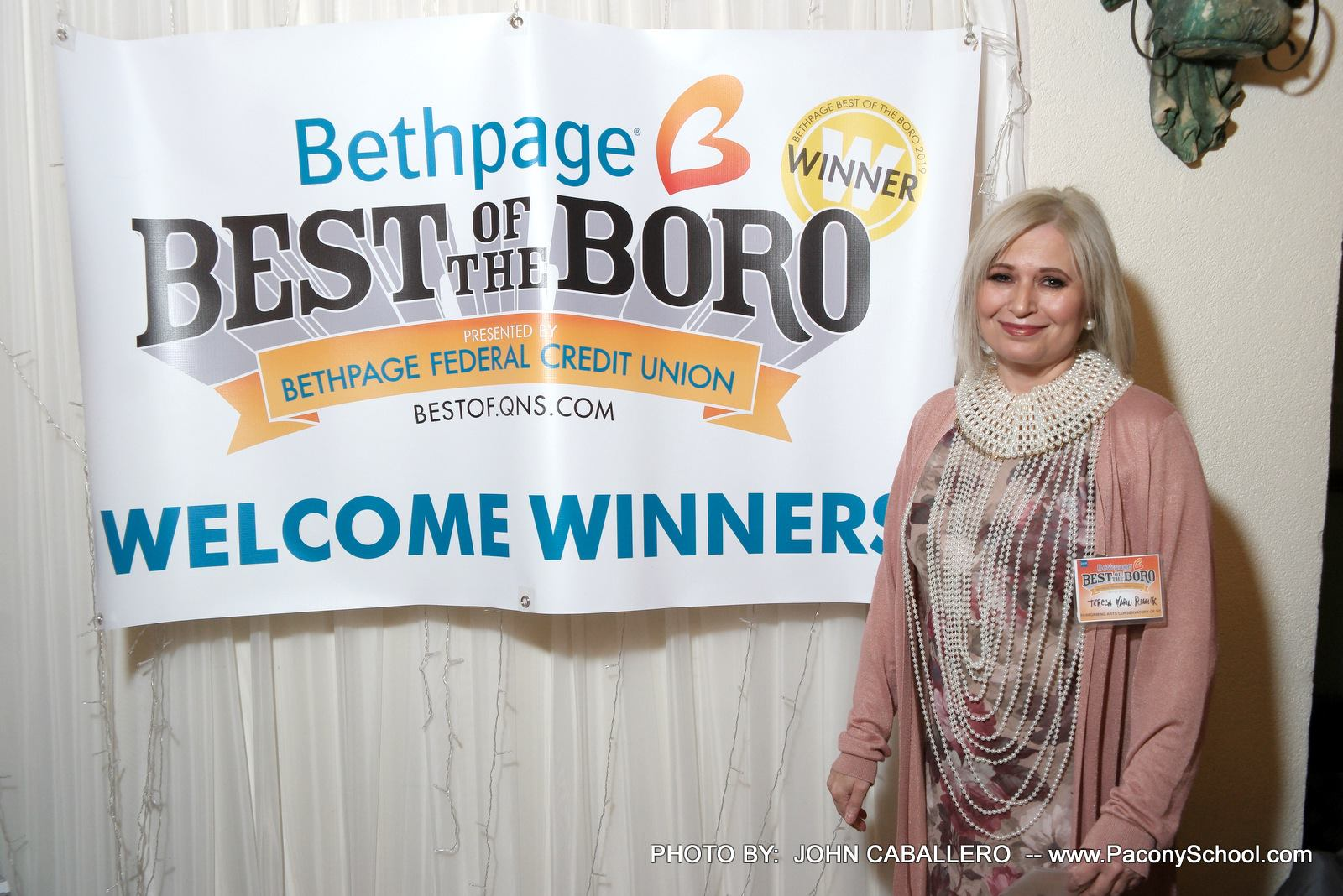 Teresa w:Winners Banner.jpg