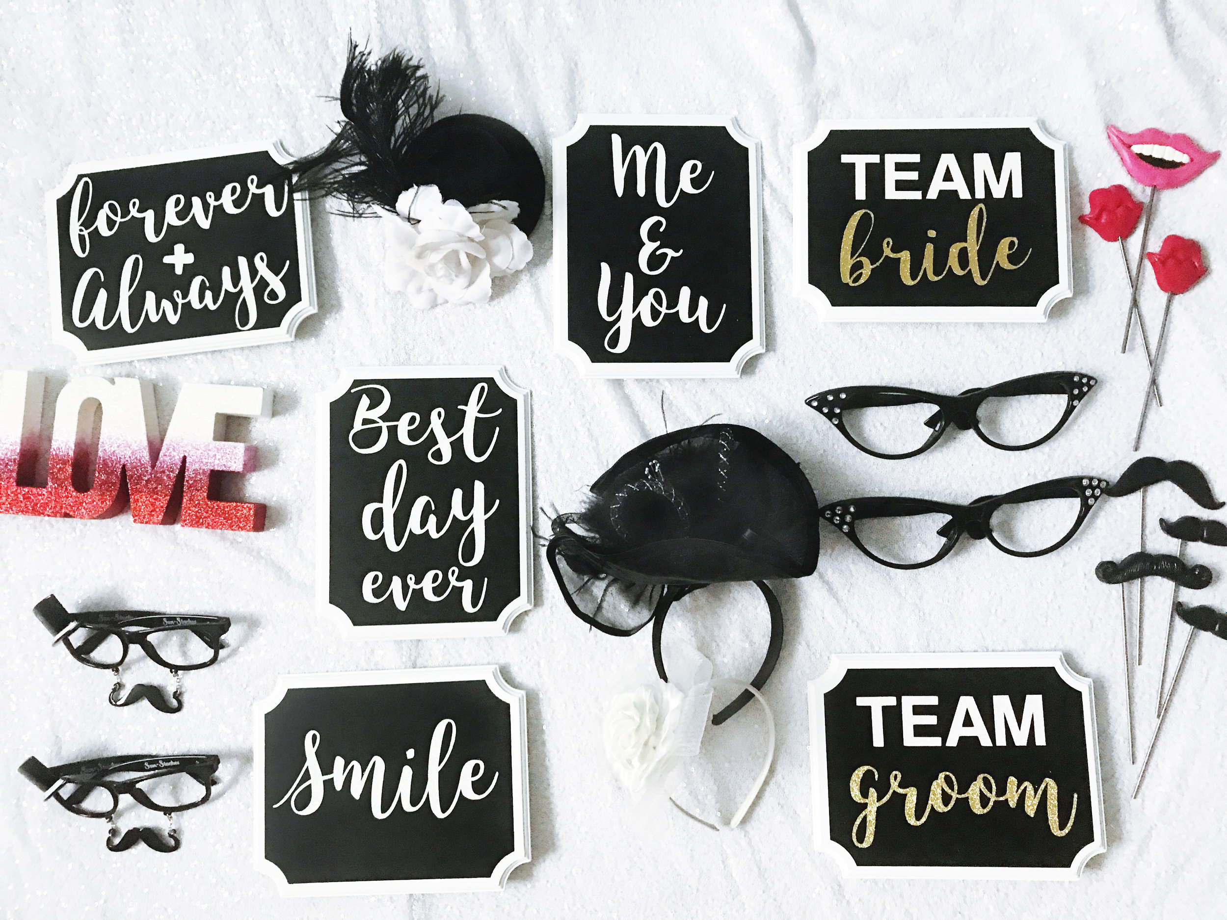 Fancy Wedding Photo Booth Props