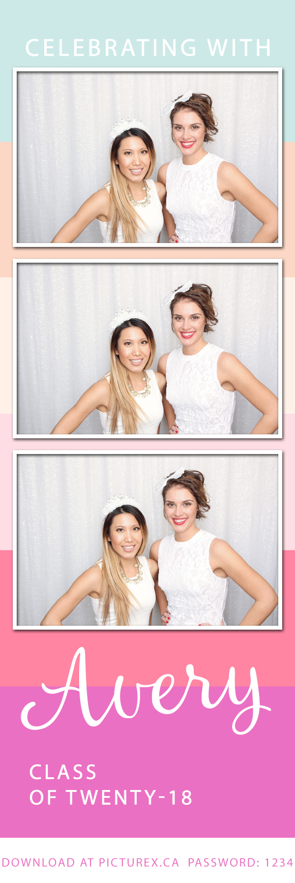 Stripped Photo Booth Template