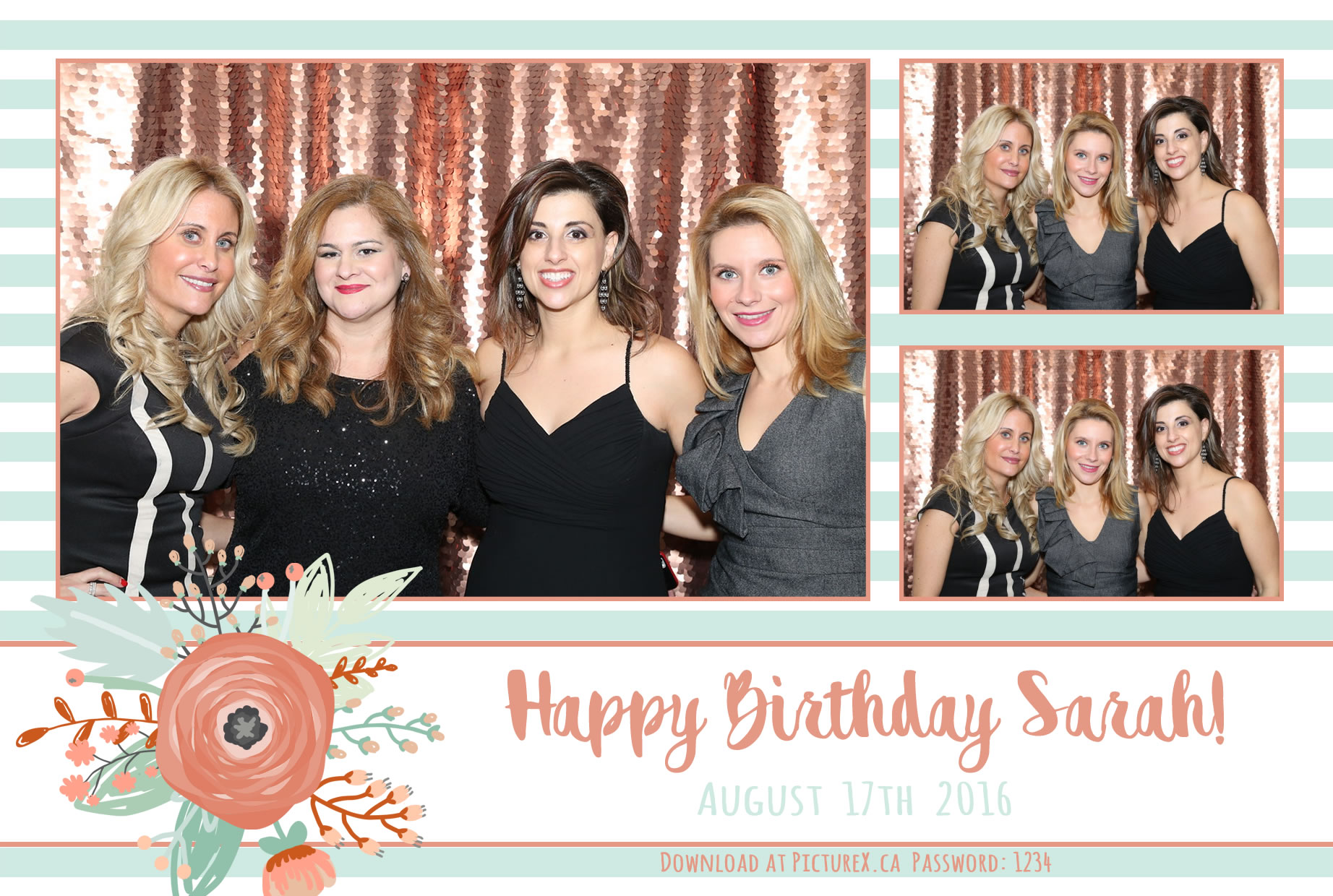 Peach Photo Booth prints