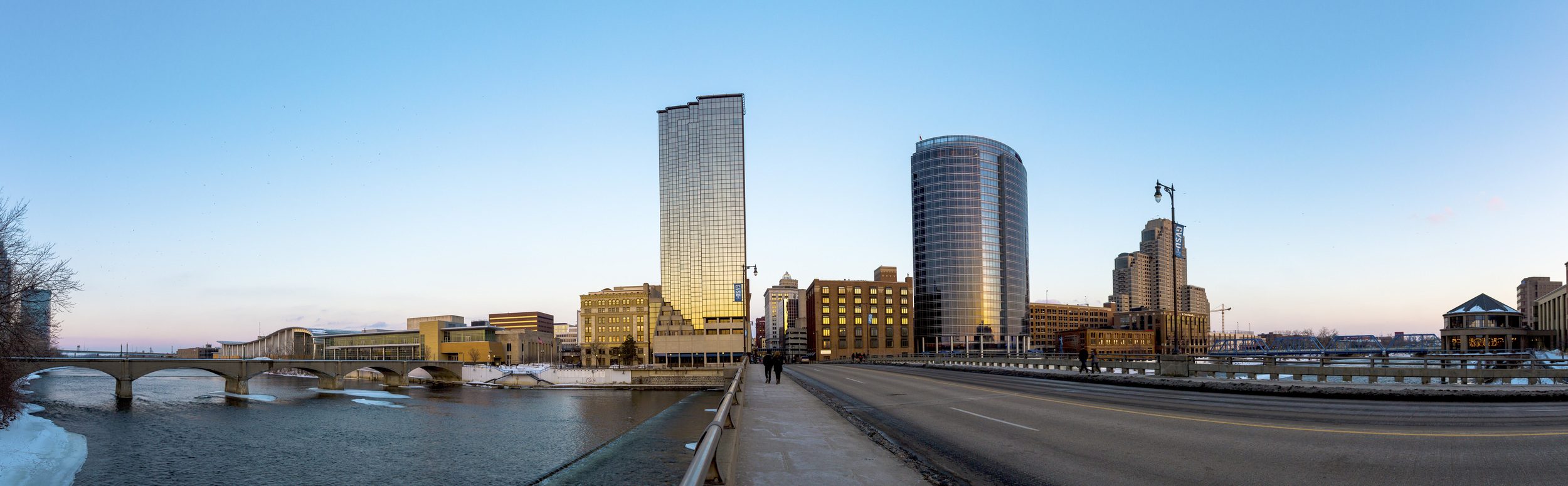 SHOOTING WIDE: This image is the completed panorama I shot during a trip to downtown Grand Rapids, Mich. The image is composed of four shots that were stitched together in Photoshop.