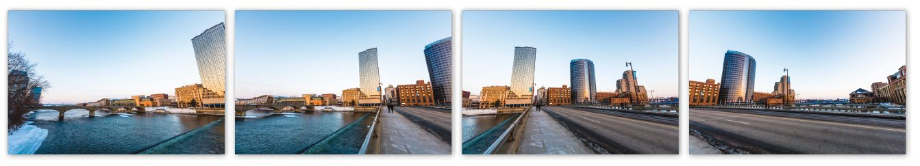 INDIVIDUAL SHOTS: These images are the shots used to create the final panorama above. Each image contains parts of the previous image to make the merging process in Photoshop cleaner and easier.