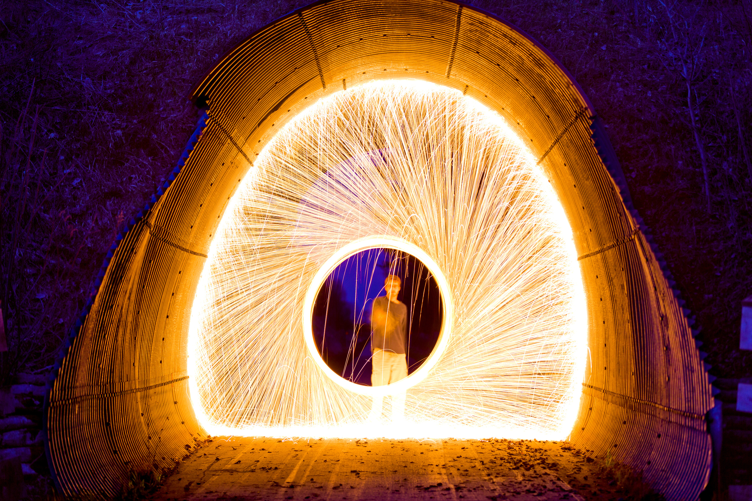 LIGHT SHOW: This is a really fun project if done correctly and safely. Simply use some steel wool inside of a whisk and find a rope or leash to swing it around after setting the wool on fire. Remember, safety is first with this kind of project. Be cautious and have fun.