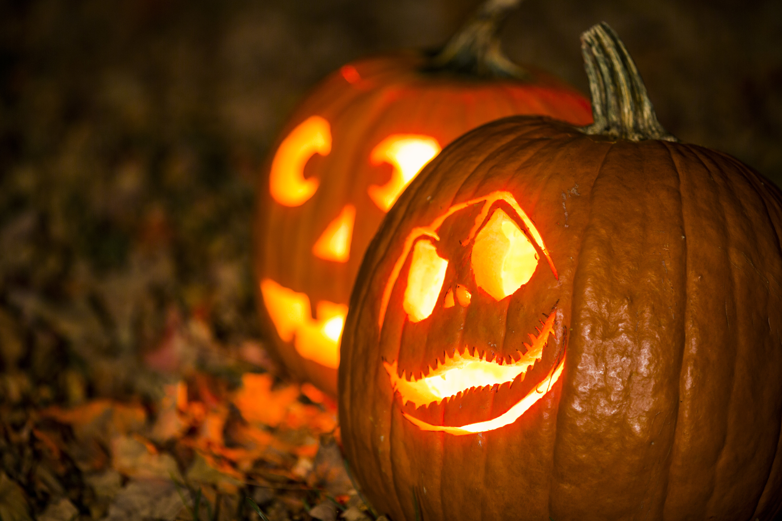 JACK-O-LANTERNS: Photographing Jack-O-Lanterns is relatively easy if you use a tripod and a long exposure.
