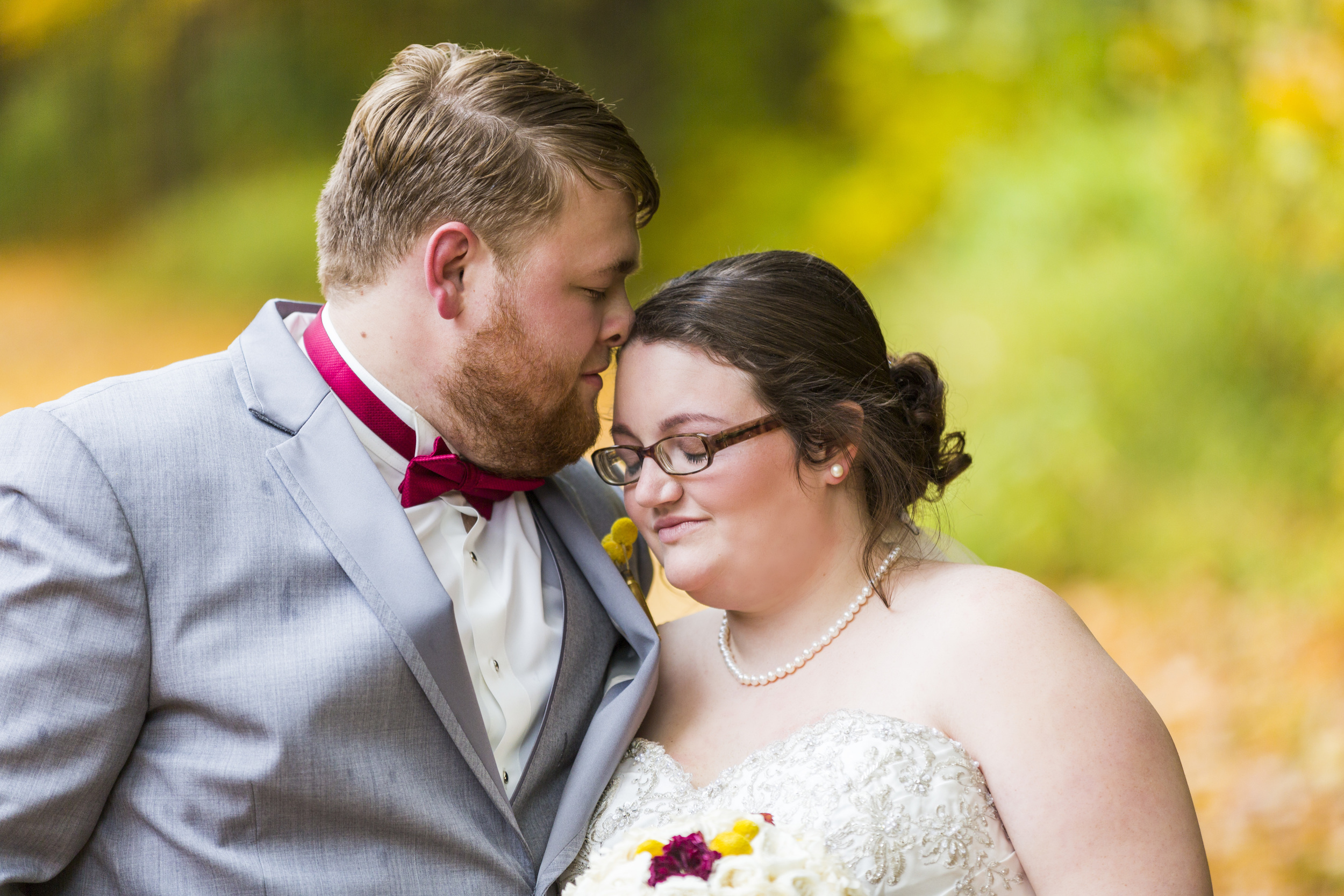A WAY TO REMEMBER: Pictured are Lucas and Chelsea Waterman during their wedding in 2014.