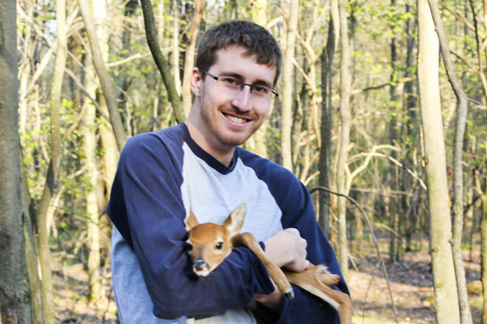 In May of 2014, I was able to help put together a photo package for a story about a deer ranch. This was the first time I ever held a fawn in my arms.