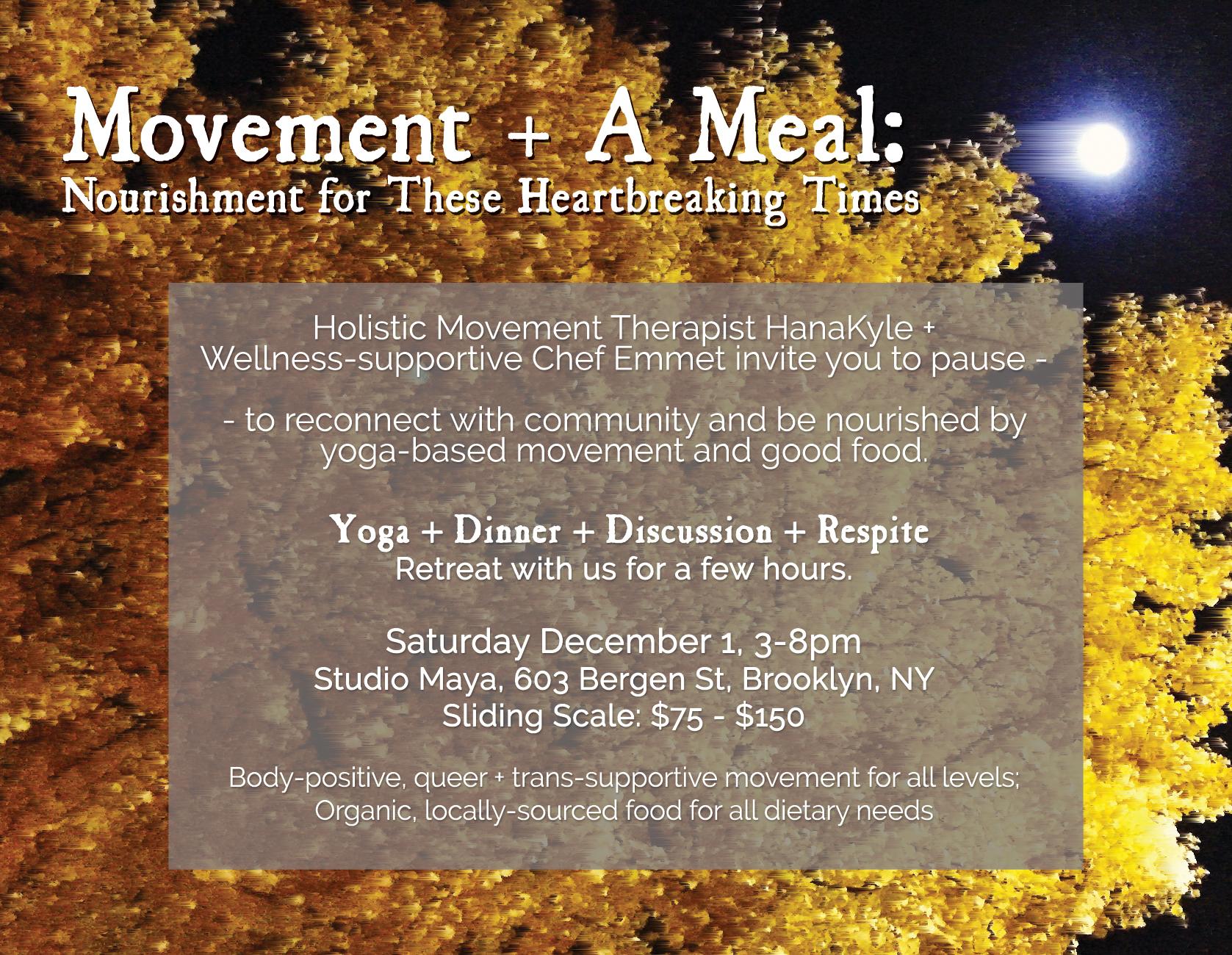 Movement Meal Mini Retreat