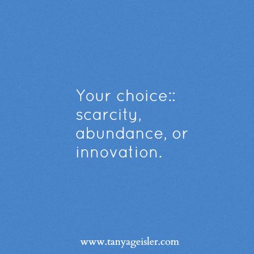 Your choice scarcity