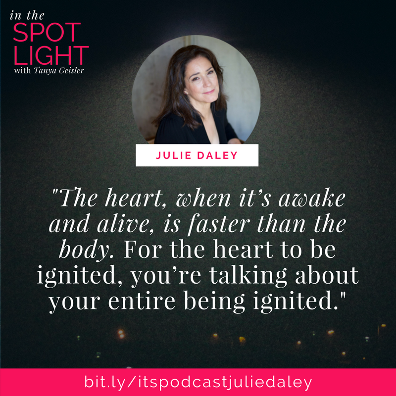 in the spotlight with julie daily on igniting your heart's desires