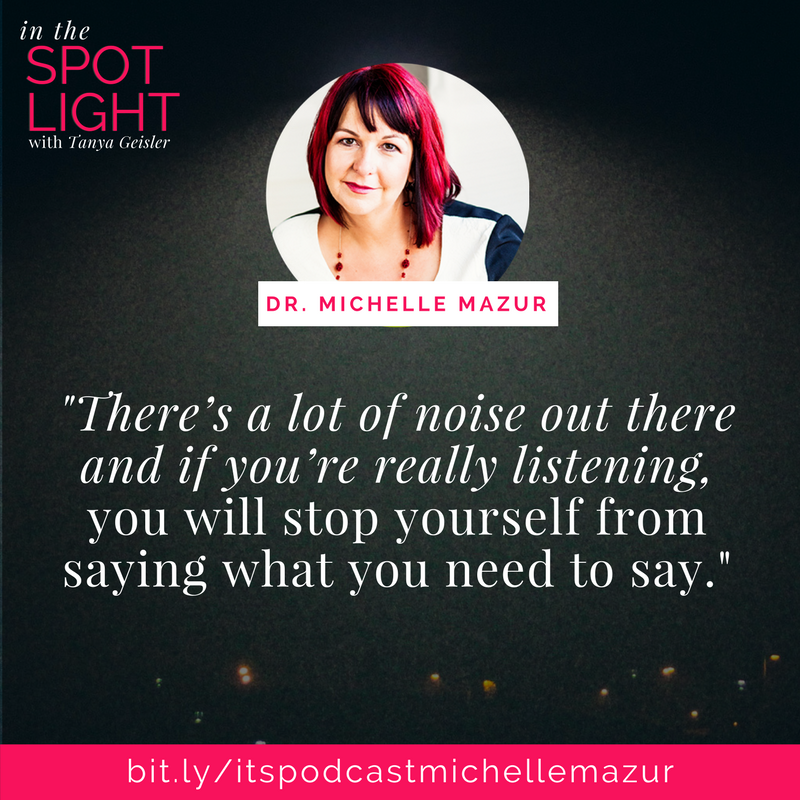 in the spotlight with dr michelle mazur speaking and the impostor complex