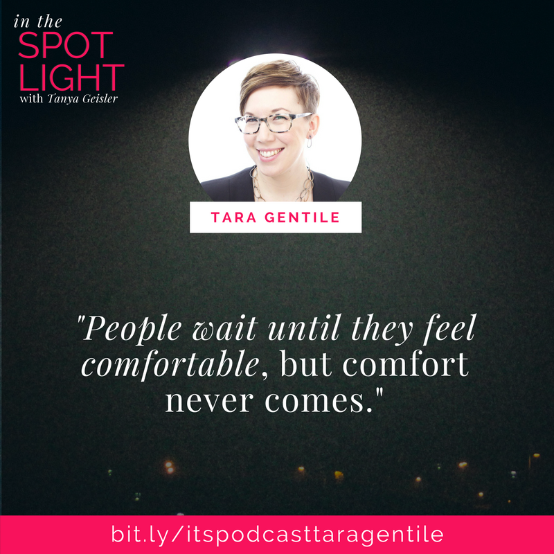 in the spotlight with tara gentile on showing up in community