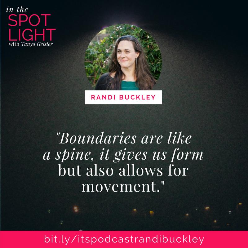 in the spotlight with randi buckley on boundaries