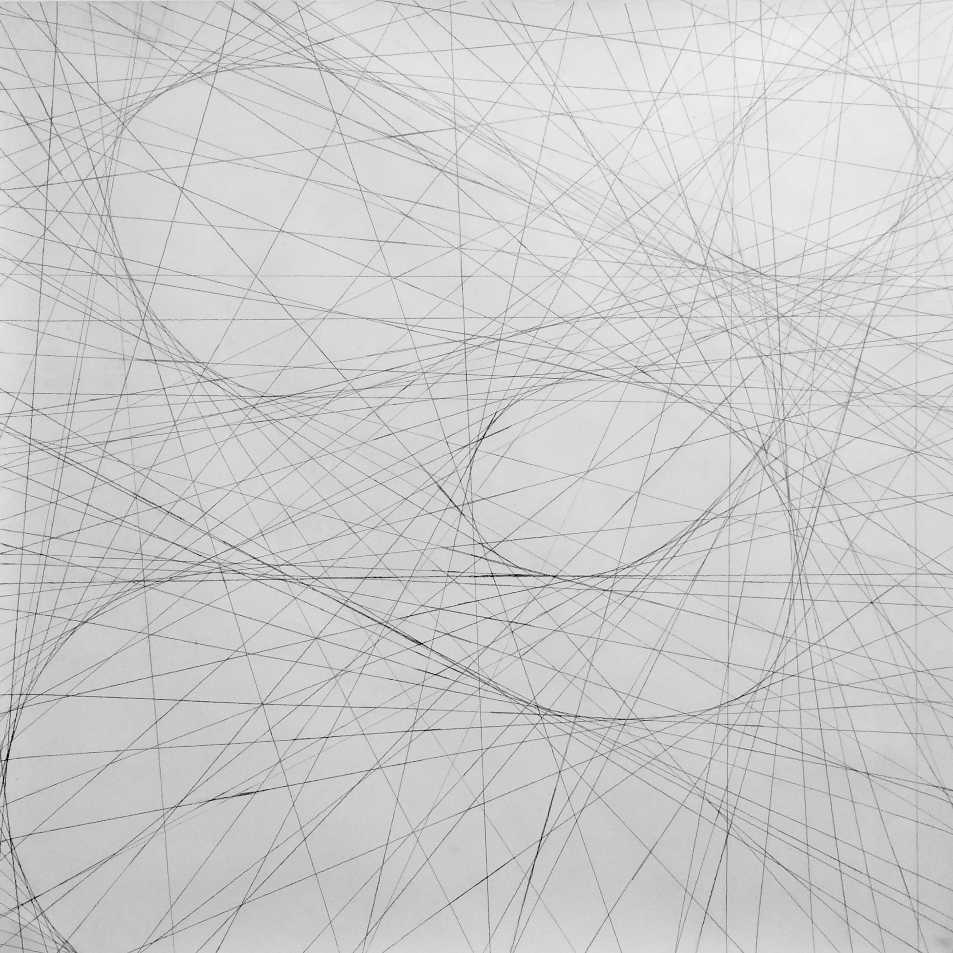 Straight Lines, Graphite on Paper, 2015