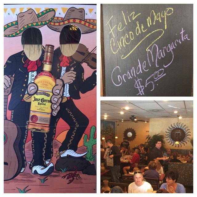 ¡Happy Cinco de Mayo! Come celebrate with us all day long at #DRMEX $5 grande margaritas!