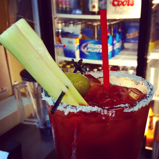 #bloodymary cocktails $3!!! New Saturday and Sunday drink special. 👍🍸🍻