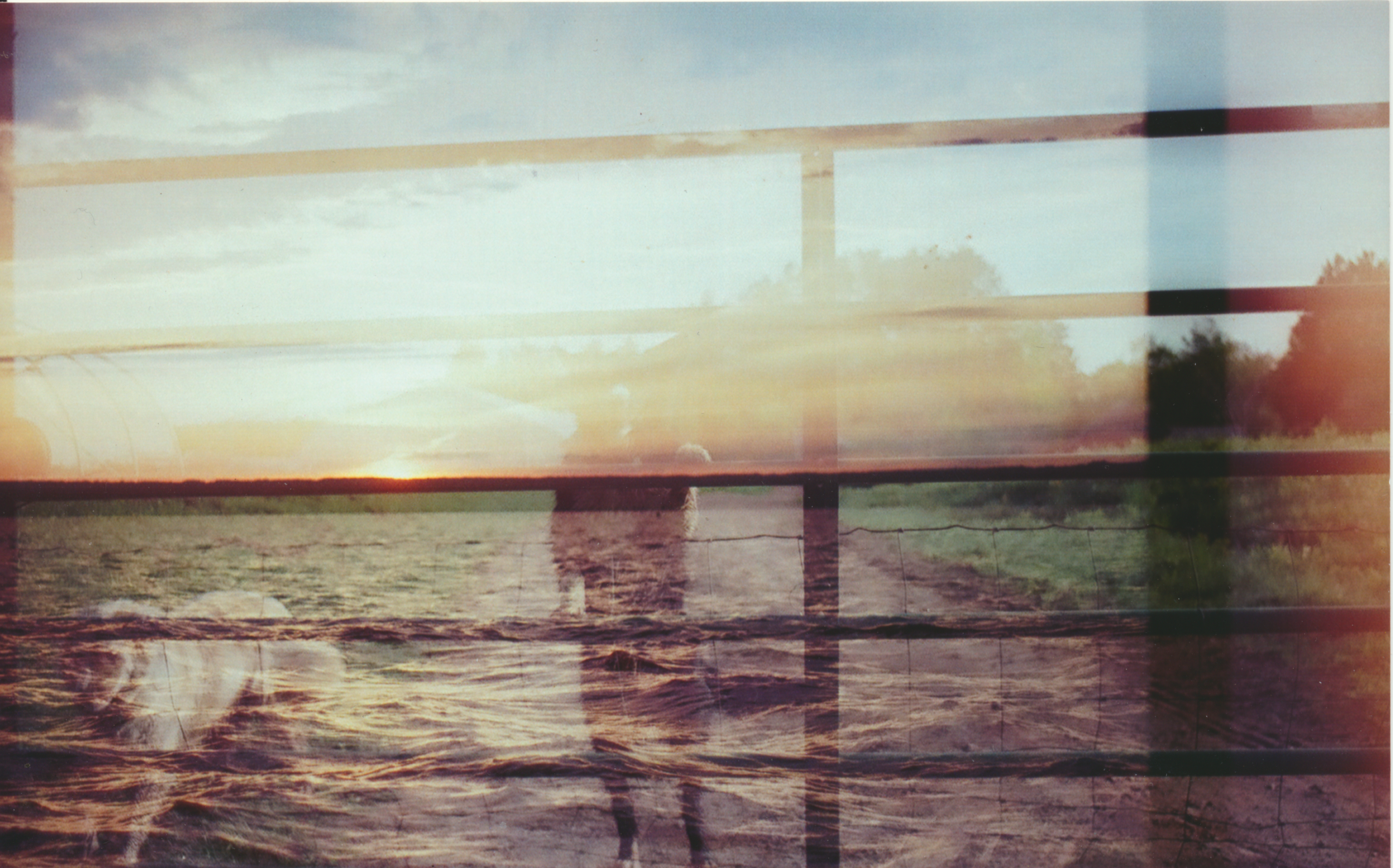Double Exposure from a film exchange with  Mae Lynn .