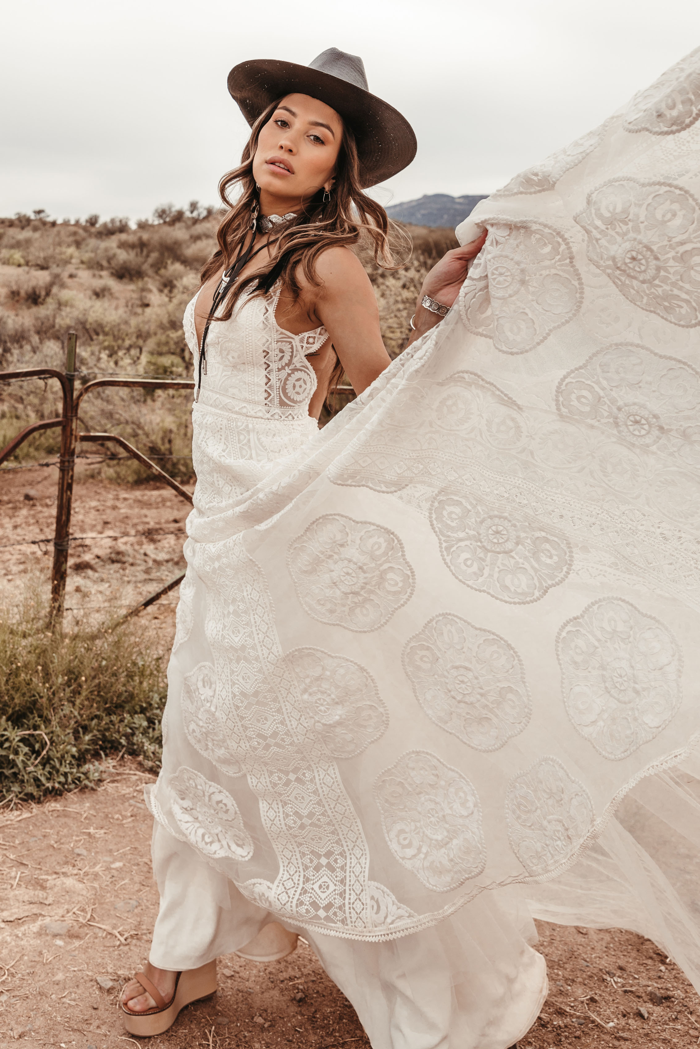 Sedona Gown by Rue De Seine Bridal Moonlight Canyon