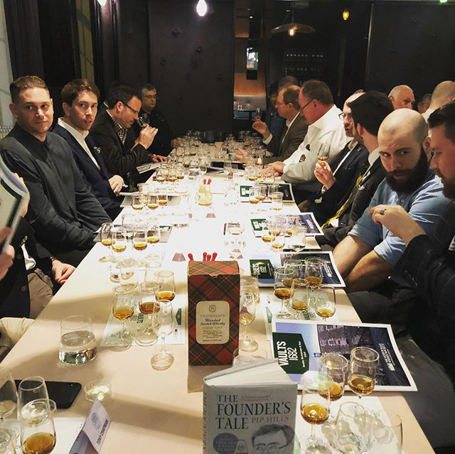 A remarkable evening being enjoyed by all at our oldest and rarest outing yet. Vaults 1682 from the Gathering events. More to come... . . #thesmws #vaults1682 #whiskydinner #bentley