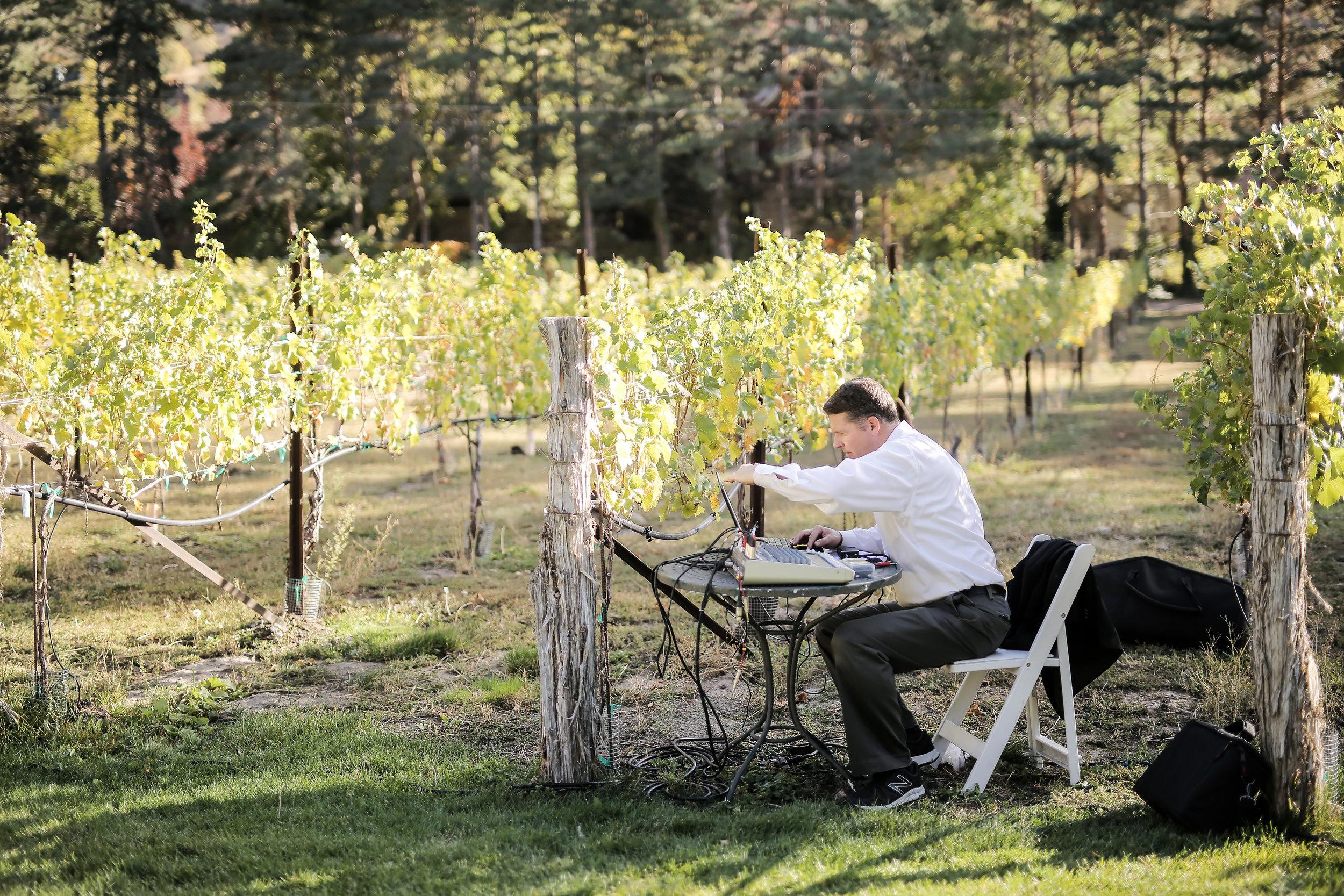 photo by @peppernix - Eli preparing for Vineyard ceremony
