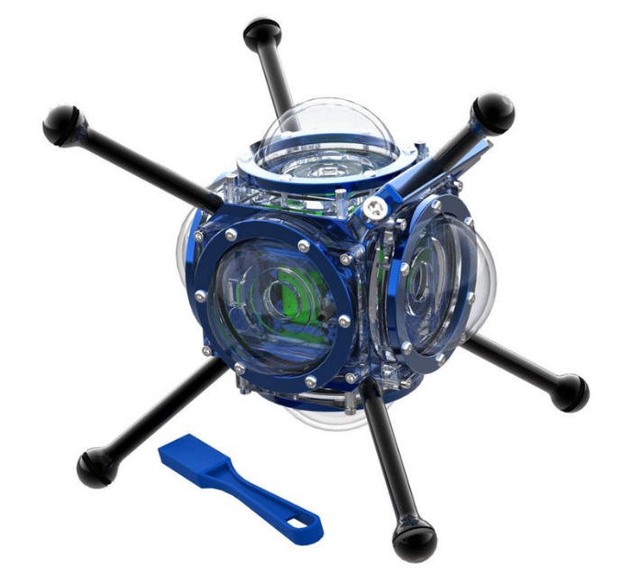 360 Heros'360 Abyss Video Capture Rig. The most advanced underwater VR360 camera capture system in the world.