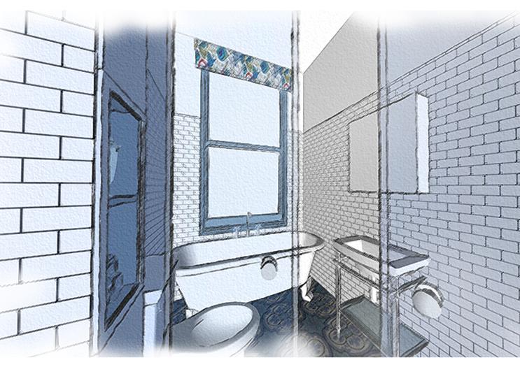 Aruba Bathroom - Concept Visual