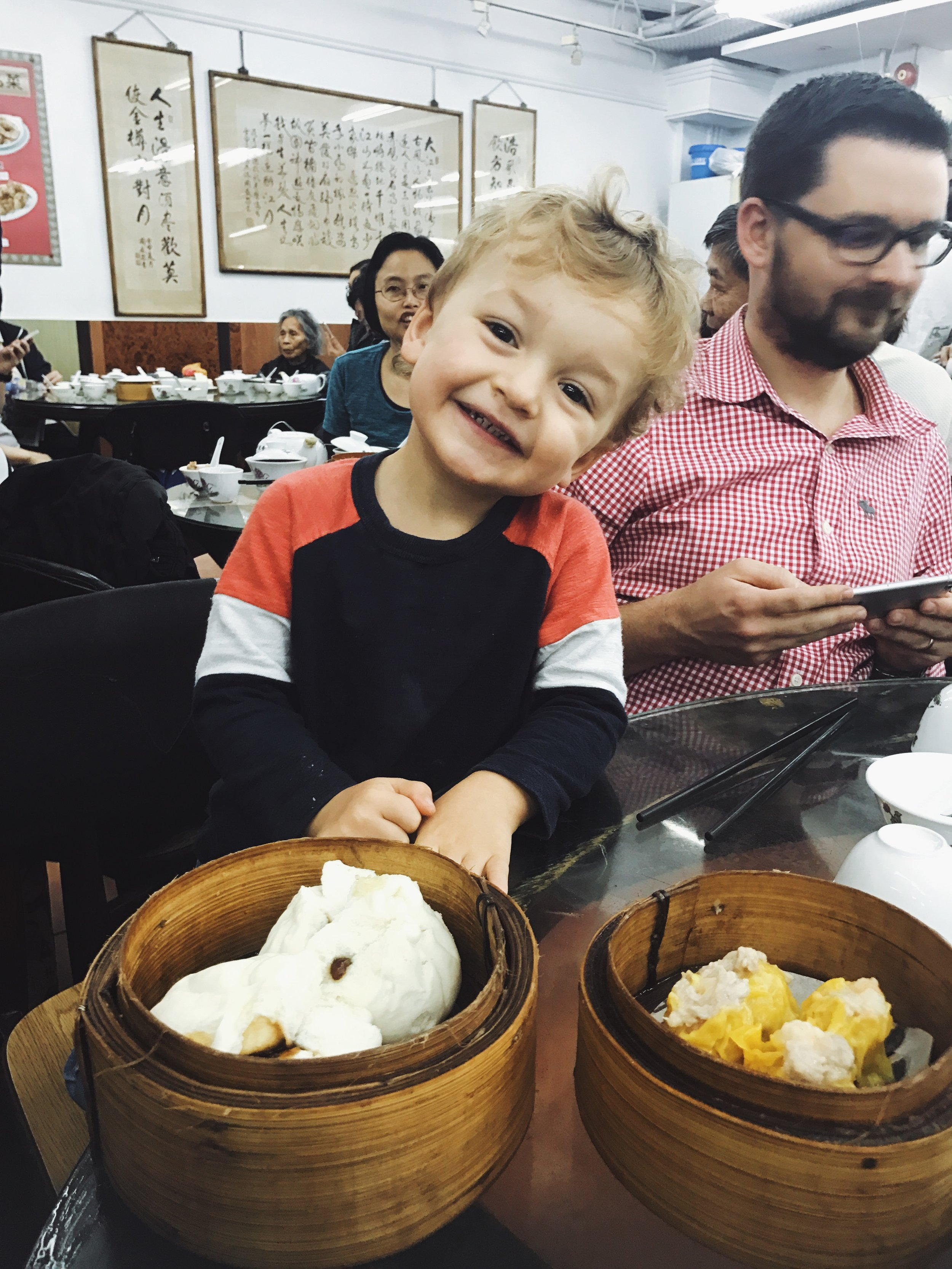 Our little professional dim sum eater from Australia. Yes, kids are welcome on the tour - the more the merrier! :)