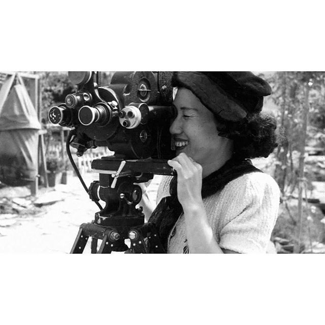 "Repost from @17.21women . Filming ""The Widow"" 1954, by Park Nam Ok- screen writer, film editor and the first Korean woman to direct a film. ""The Widow"" depicted the struggles and issues that surrounded widowed women during the Korean war, which was highly controversial during the time. . . . #parknamok #koreanfilmdirector #thewidow #womeninfilm #hanbok"