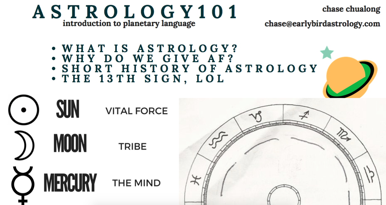 if you would like to go deeper in your interest with astrology, i offer straight forward, digestible information and insight for learning how to decipher a chart and the concepts behind the stars. live private and group session are also available online and in person!