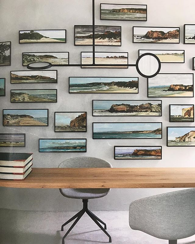 We could be rather productive in this home office! . @livingedge @cultdesignau #homeoffice #modernoffice #timbertable #study #kajaloves #kajainspired #workworkwork #oceanvibes