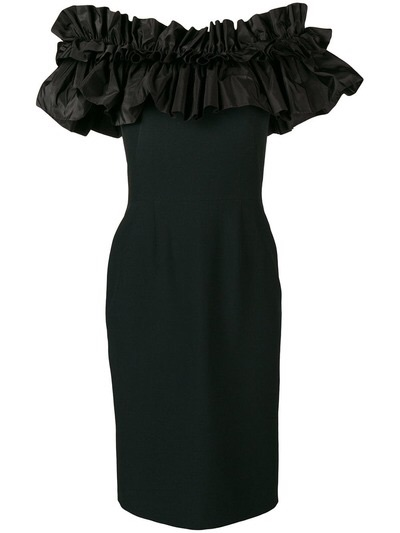 Alexander McQueenruffled top fitted dress