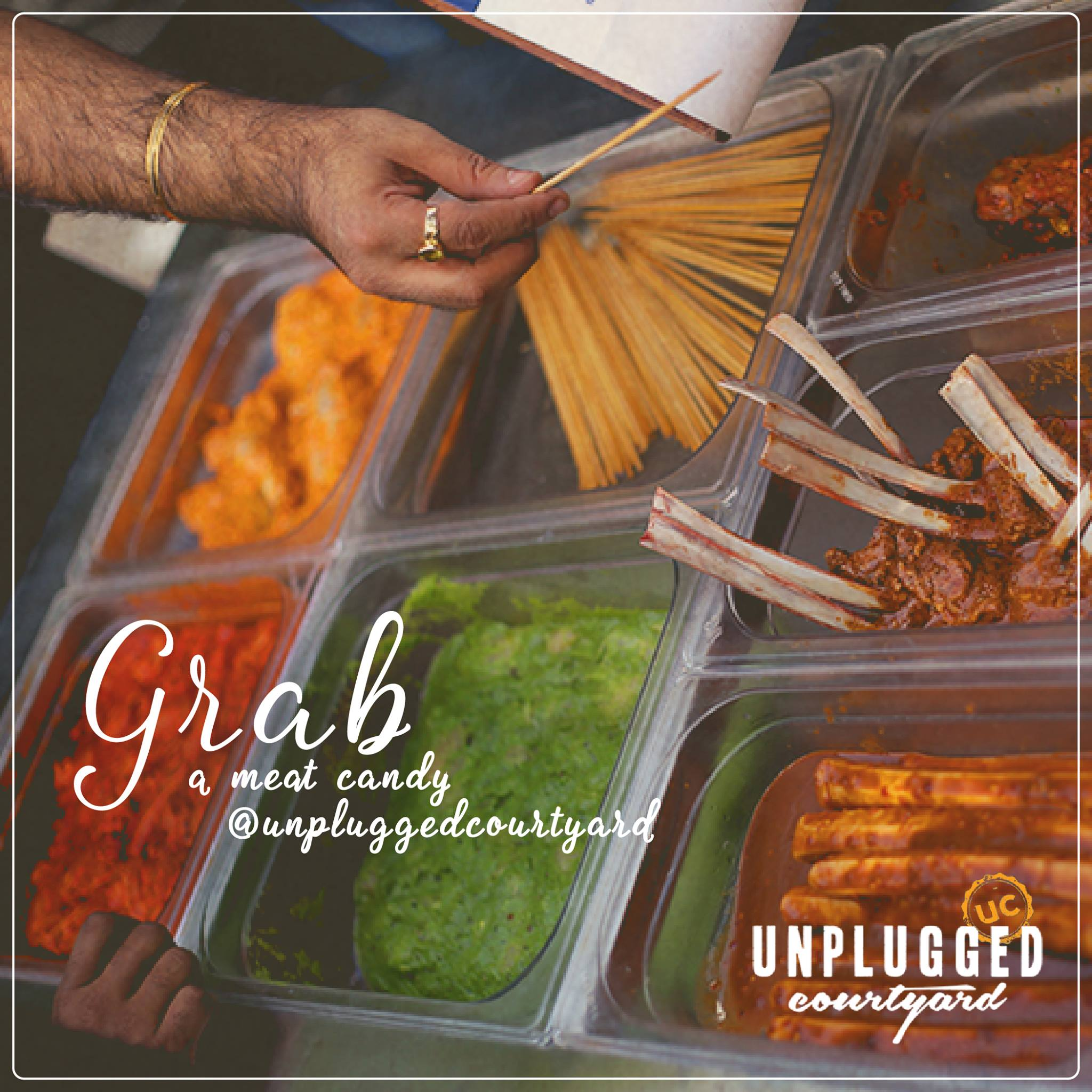 Grab a meat candy @unpluggedcourtyard.