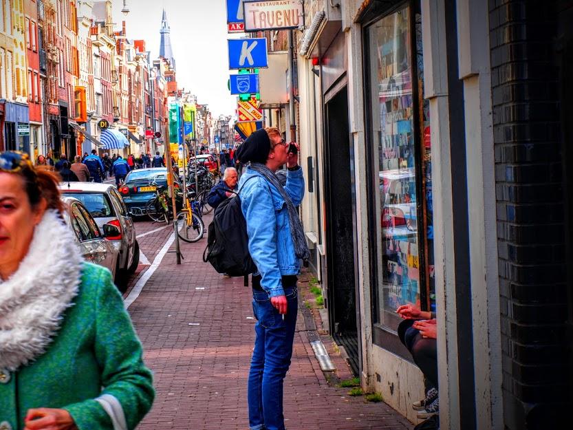 Amsterdam's charming shopping street, Haarlemmerdijk.